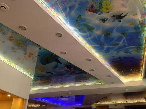 в десткой 3д потолок русалочка