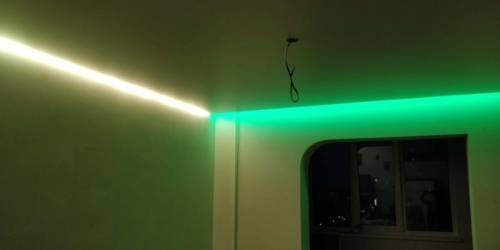 подсветка стен и штор