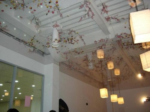 прозрачный потолок листья в 3Д