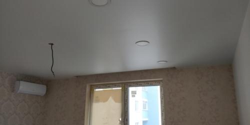 сатин на потолке